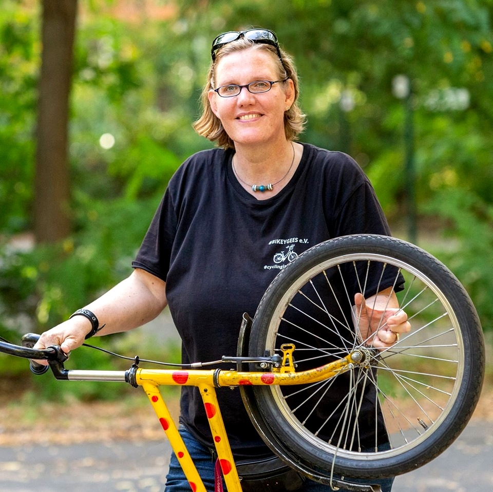 Annette Krüger, Mitgründerin #BIKEYGEES e.V., Foto: Christoph Fugel