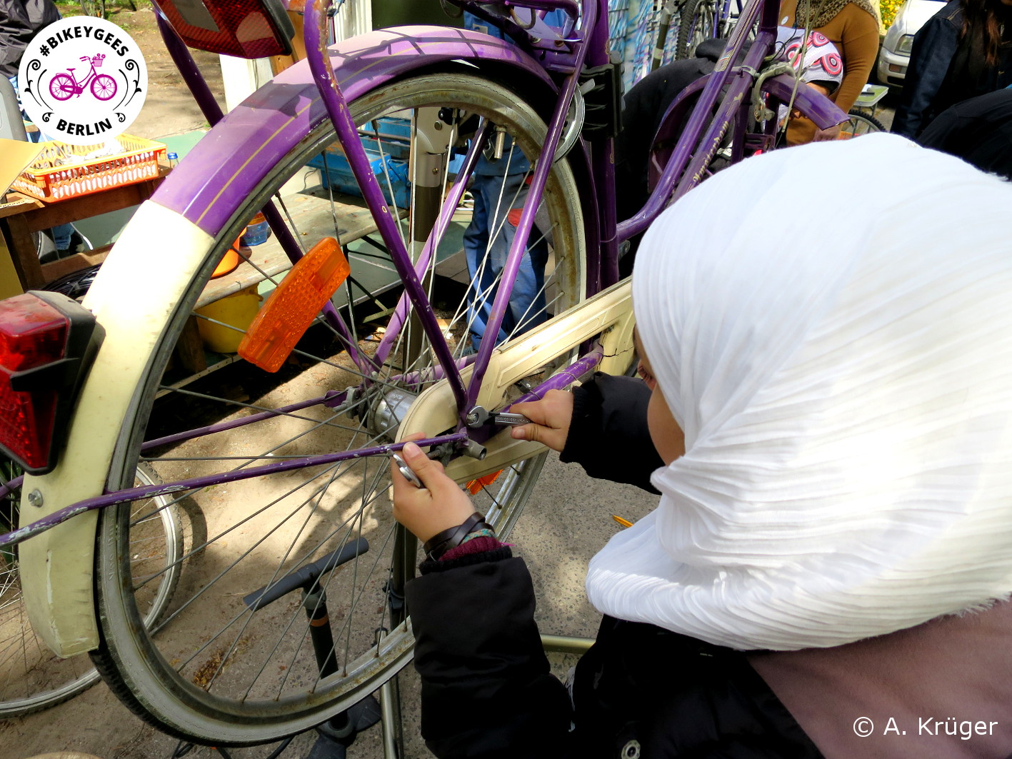 Reparatur von Fahrrädern